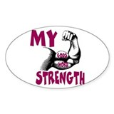 CHRISTIAN GEAR My strength GOD'S WORD sticker