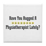 Hugged Physiotherapist Tile Coaster
