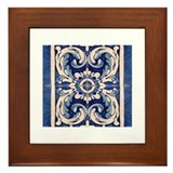 Cute Azulejo Framed Tile
