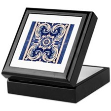 Cute Azulejos Keepsake Box