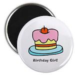 Birthday Girl Cupcake Magnet