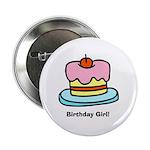 Birthday Girl Cupcake Button