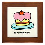 Birthday Girl Cupcake Framed Tile