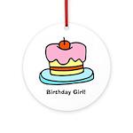 Birthday Girl Cupcake Ornament (Round)