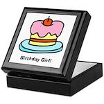 Birthday Girl Cupcake Keepsake Box