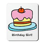 Birthday Girl Cupcake Mousepad