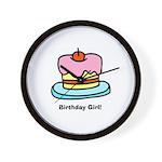 Birthday Girl Cupcake Wall Clock