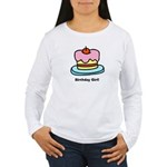 Birthday Girl Cupcake Women's Long Sleeve T-Shirt