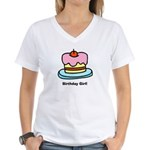 Birthday Girl Cupcake Women's V-Neck T-Shirt