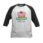 Birthday Girl Cupcake Kids Baseball Jersey