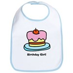 Birthday Girl Cupcake Bib