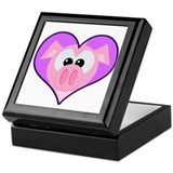 Cute Goofkins Piggy in Heart Keepsake Box