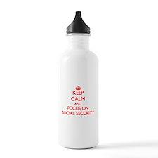 Cute Retirement insurance Water Bottle