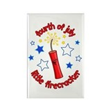 July Firecracker Rectangle Magnet