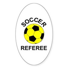 Soccer Referee Oval Decal