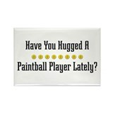 Hugged Paintball Player Rectangle Magnet (100 pack