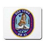 USS IOWA Mousepad