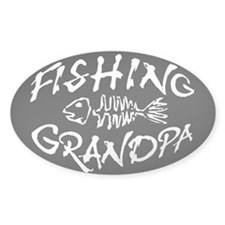 Fishing Grandpa Oval Decal