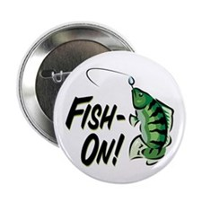 "Fish-On! 2.25"" Button (100 pack)"