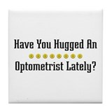 Hugged Optometrist Tile Coaster