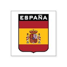 """Cute Spain flag Square Sticker 3"""" x 3"""""""