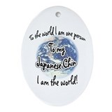 Chin World2 Oval Ornament