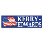 Kerry-Edwards 2004 Flag Bumper Sticker