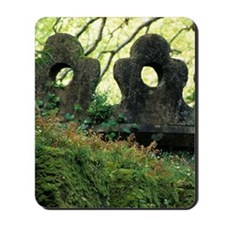 Sintra. Moss and ferns grow over crenell Mousepad
