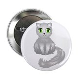 Gray Kitty Cat 2.25&quot; Button (100 pack)
