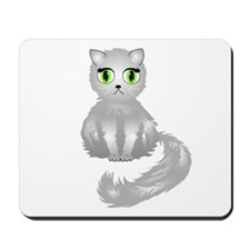Gray Kitty Cat Mousepad