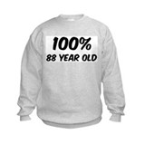100 Percent 88 Year Old Sweatshirt