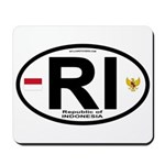 Indonesia Intl Oval Mousepad