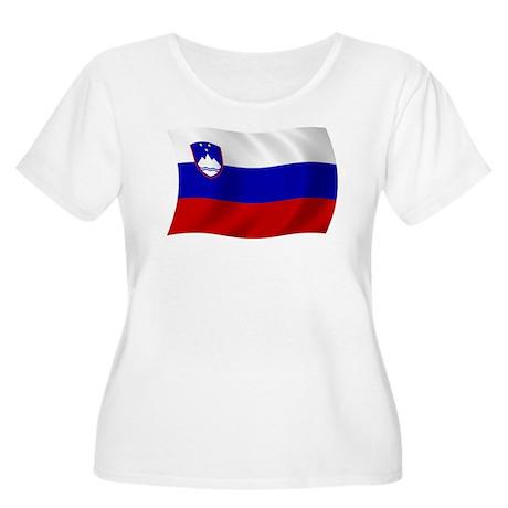 Slovenia Flag Women's Plus Size Scoop Neck T-Shirt