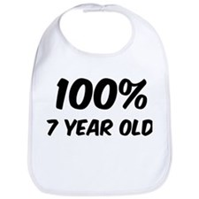 100 Percent 7 Year Old Bib