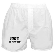 100 Percent 66 Year Old Boxer Shorts