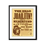 The Head of Joaquin Framed Panel Print