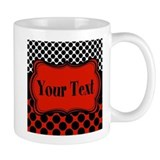 Red and black monogram Coffee Mugs