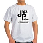 Jazz Police logo on Ash Grey T-Shirt