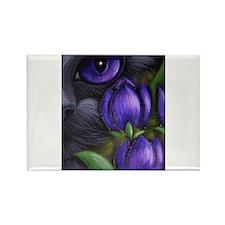 black purple tulip cat Magnets