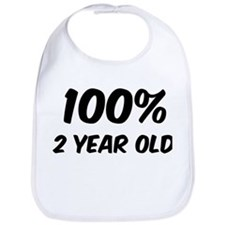 100 Percent 2 Year Old Bib