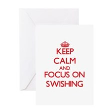 Keep Calm and focus on Swishing Greeting Cards