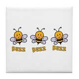 Buzz Buzz Bee Tile Coaster