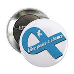 Give Peace a Chance Ribbon Button