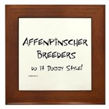 Affenpinscher Doggy Style Framed Tile