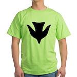 Descending Dove Of Peace Green T-Shirt