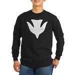 Descending Dove Of Peace Long Sleeve Dark T-Shirt