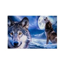 Wolf decor Rectangle Magnet