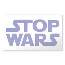 STOP WARS Rectangle Decal