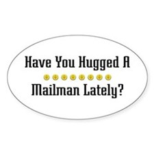 Hugged Mailman Oval Decal