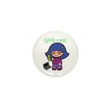 Girl Computer Professional Mini Button (10 pack)